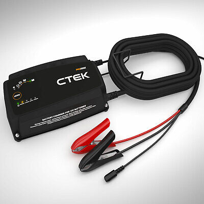 Ctek PRO25SE Charger with Wall Bracket+6 Meter Charging Cable,Efb Lithium