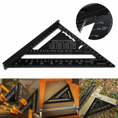 Measuring Triangle Guide 12 inch Roofing Speed Square Aluminium Rafter Angle UK