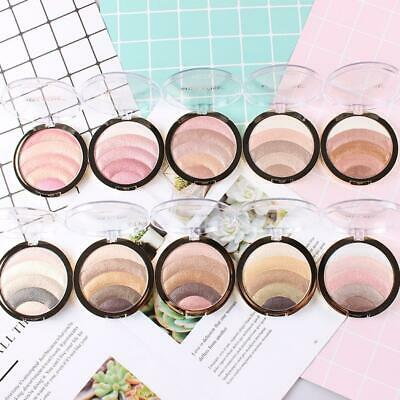 MISS ROSE Rainbow Color Blusher Bronzer Highlighter Makeup Powder Palette