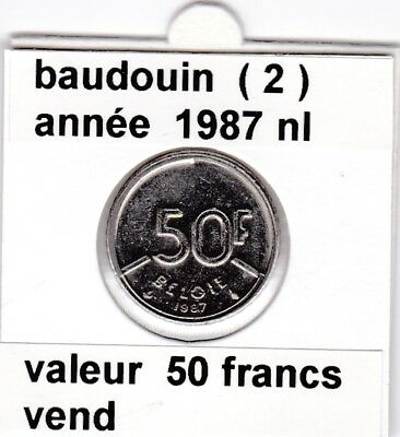 FB )pieces de baudouin  50 francs  1987 belgie ( 2 )