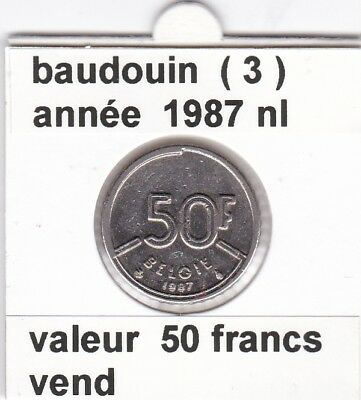 FB )pieces de baudouin  50 francs  1987 belgie ( 3 )