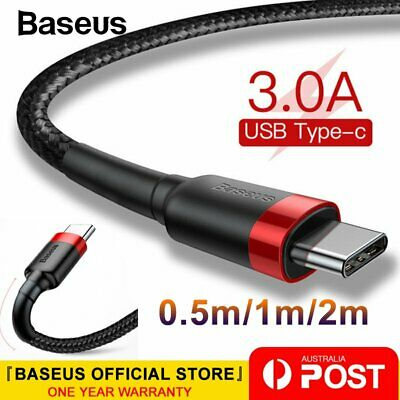 Baseus USB Type C Cable 3A Charging Cord for OPPO Huawei Samsung S10 S9 Note9