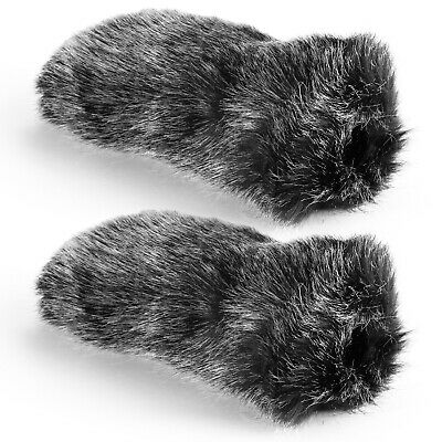 Neewer 2 Pieces NW-MIC-121 Outdoor Microphone Furry Windscreen Muff