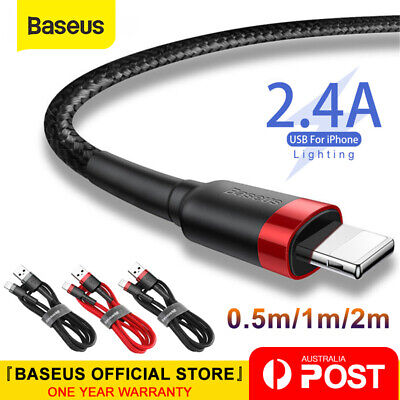 Baseus USB to Lightning Charging Cable Cord for iPhone 6 7 8 Plus XS XR XS Max