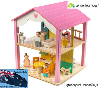 Tender Leaf Wooden Dolls House inc Dolls and Furniture. $9.95 flat rate postage