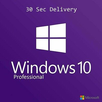 Microsoft Windows 10 Pro Professional Code 32/64bit Original Genuine Licence Key