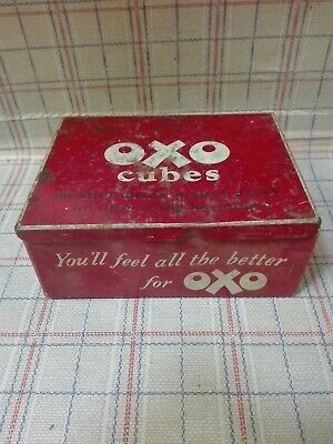 Vintage Collectable Metal Oxo Cubes Tin