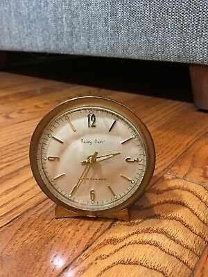 Vintage WESTCLOX BABY BEN Gold Wind Up Retro ALARM CLOCK Mid Century USA WORKS