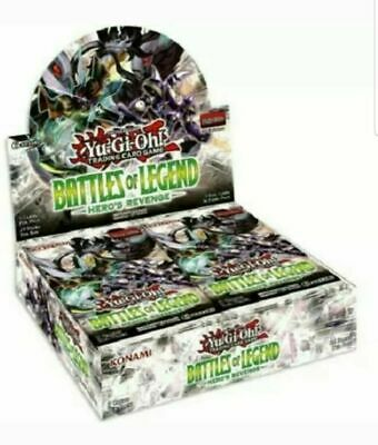 YuGiOh Battles of Legend: Hero's Revenge Booster Box Factory Sealed
