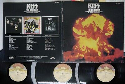 KISS ORIGINALS CASABLANCA VIP-5501,2,3 Japan CARD SHEET VINYL 3LP