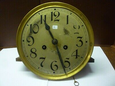 Original Art Deco Striking Wall Clock Spring Driven Movement+Dial (12)