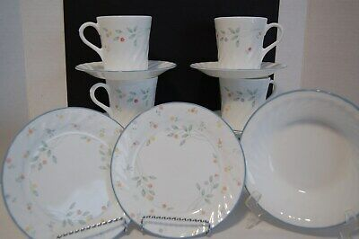 Lot of 11 Corning Corelle ENGLISH MEADOW 1 Soup 4 cups 4 saucers 2 sm plates