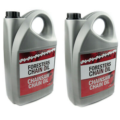 2 x 5 Litres Chainsaw Saw Chain Oil For Guide Bar Oil Pump For All Makes Of Saws
