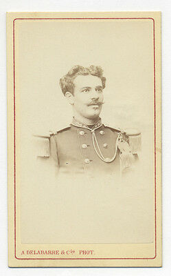 1870's BELGIAN OFFICER CDV PHOTO, BATESH SCHMIDT, FROM S. W. WOODHOUSE ALBUM
