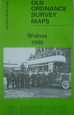 Old Ordnance Survey Detailed Maps Widnes Lancashire 1905 Godfrey Edition New