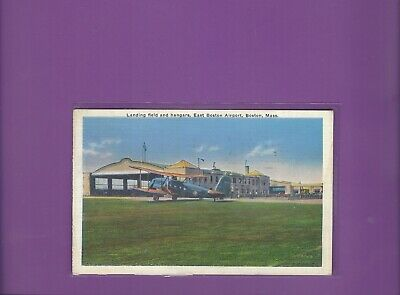 American Airlines Curtiss Condor at Boston MA airport postcard