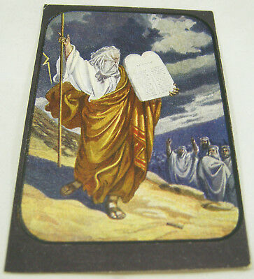 Photo-Drama Creation Postcard #18 TEN COMMANDMENTS MOSES Watchtower Jehovah WOW!