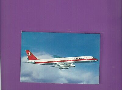 Air Canada airlines issued DC-8  postcard