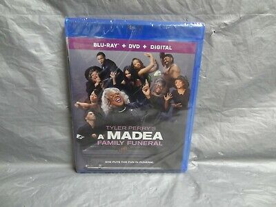 Brand New! Tyler Perry's A Madea Family Funeral (Blu-Ray + Dvd + Digital, 2018)