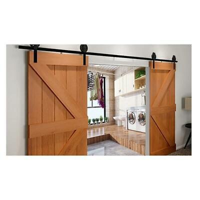 Antique Classic Sliding Barn Double Door Track Kit