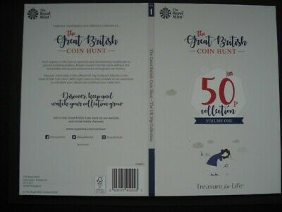 Royal Mint The Great British Coin Hunt 50p Volume 1 Collector Album Folder NEW.