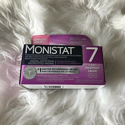 New MONISTAT Vaginal Antifungal Complete Therapy - 7 Day Treatment Cream, 7/2019