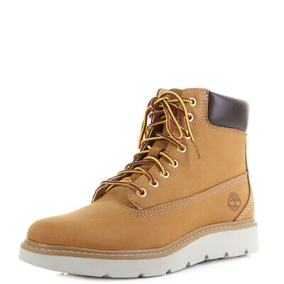 5eaad505dd98c Womens Timberland Kenniston 6 inch Lace Up Wheat Leather Ankle Boots Size