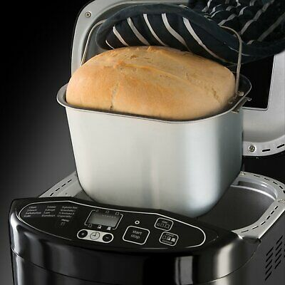 Fast Breadmaker Kitchen Bread Making Machine Compact Black Quick Bake