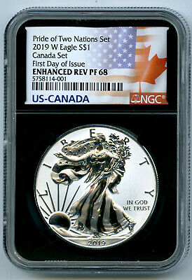 2019 W Canada Rcm Version Pride Of Two Nations Ngc Pf68 American Eagle Fdi 001