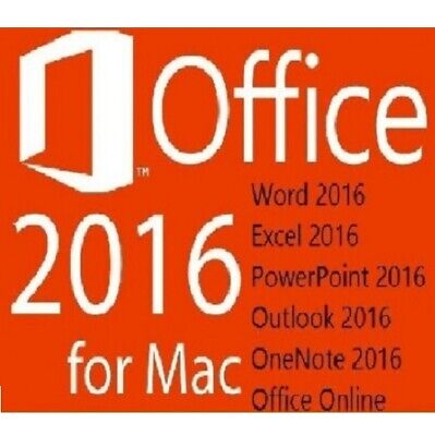 MS Office 2016 Home and Business für MAC / for MAC / Standard / 1 MAC /per EMail