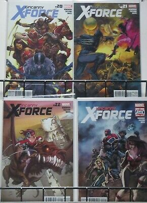 UNCANNY X-FORCE (Marvel, 2010) #20-23 Trial of Fantomex complete arc! VF-NM