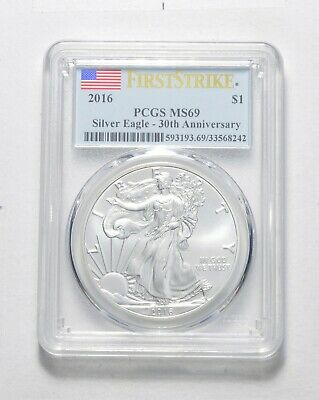 FIRST STRIKE - 2016 American Silver Eagle - PCGS Graded MS-69 - Tough Coin *169