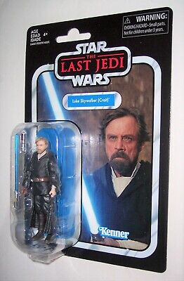 Star Wars 3.75 Vintage 2019 LUKE SKYWALKER CRAIT The Last Jedi VC146 MOC