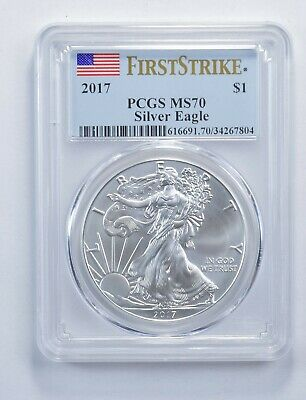 MS70 2017 American Silver Eagle - First Strike - Graded PCGS *414