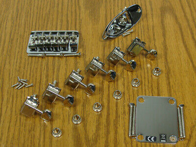 Fender Robert Cray Hardtail Strat HARDWARE SET Chrome Stratocaster Guitar Parts