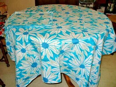 Vera Neumann vintage TABLECLOTH + 8 NAPKINS 1960's RECTANGLE~~COTTON~~~~