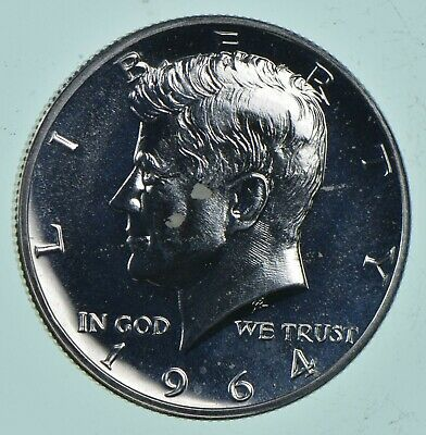 1964 Kennedy Silver Half Dollar Proof - Accented Hair *344