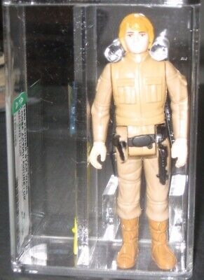 AFA 75 EX+/NM 1980 Kenner LUKE (BESPIN FATIGUES) Star Wars Action Figure Toy