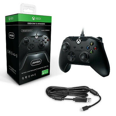 Xbox One Wired Controller Black XB1 PDP - NEW X S 1 Windows PC