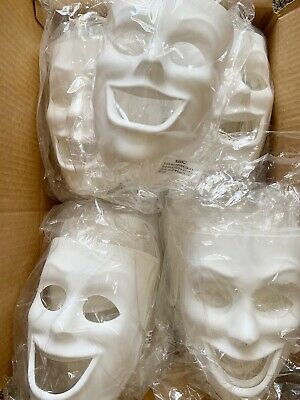 Creativity Street PM4209 Plastic Mask, Happy Face 37 Mask LOT Brand NEW