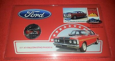 2017 - 1971 Ford XY Falcon GTHO Phase III Coin & Stamp Cover PNC - Uncirculated
