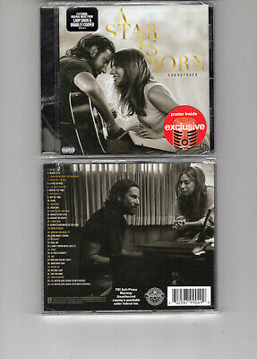 A Star Is Born -Ost (Cd 2019) New  Lady Gaga  Bradley Cooper *Poster*