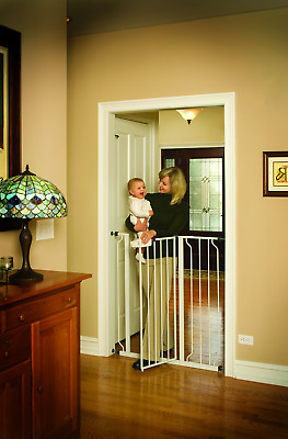 Regalo Easy Step Extra Tall Walk Thru Baby Gate Includes 4-Inch Extension Kit...