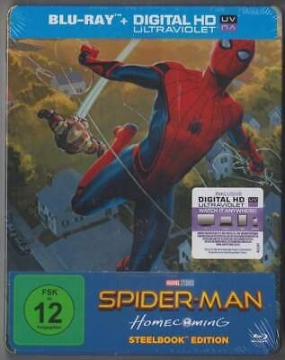 """SPIDER-MAN HOMECOMING"" - MARVEL - ltd BLU RAY STEELBOOK illustrated Edition"