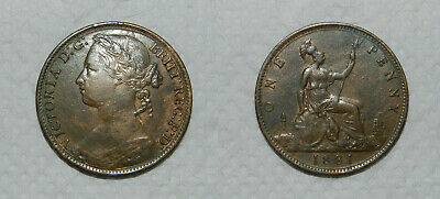 GREAT BRITAIN :  QUEEN VICTORIA PENNY 1881 - Good Detail  VF