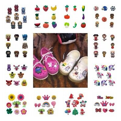 7-12pcs/lot Christmas Casual Decoration PVC Jibbiz Shoe Charms Shoe Buckles Gift