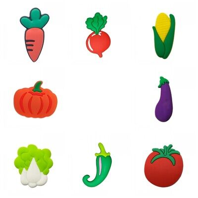 8pcs/lot Fruits Vegetables PVC Jibbiz Shoe Charms Shoe Buckles Shoes Ornaments