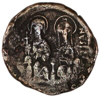 BYZANTINE EMPIRE coin FOLLIS Justin II and Sophia (AD 570.), Constantinople mint