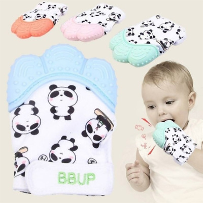 Baby Silicone Mitts Teething Mitten Teething Glove Wrapper Soft Teether Mitts