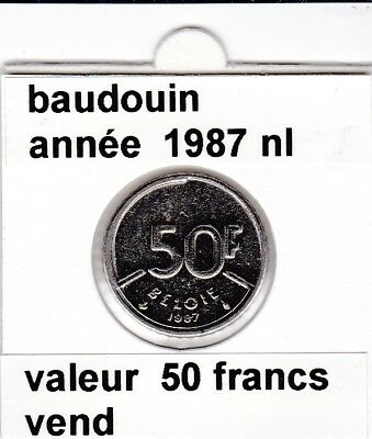 FB )pieces de baudouin  50 francs  1987 belgie
